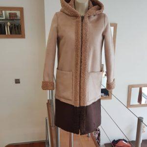 abrigo doble faz