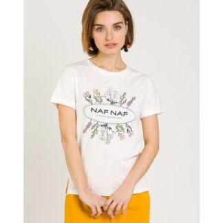 Camiseta manga corta mujer con logo NafNaf
